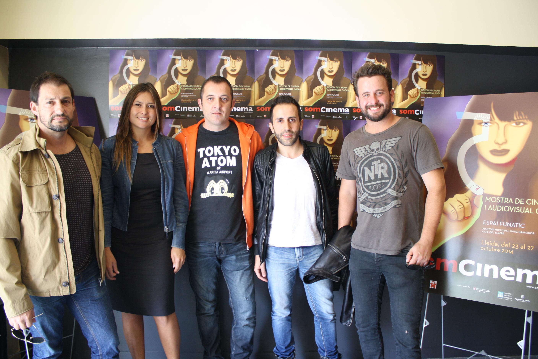 David Sanz, Andrea Ancíbar, José M. Rabinad, Tony López i Jordi Sánchez, de l'escola de cinema i productora CLAQUETA Y ACCIÓN, de Vilanova i la Geltrú.