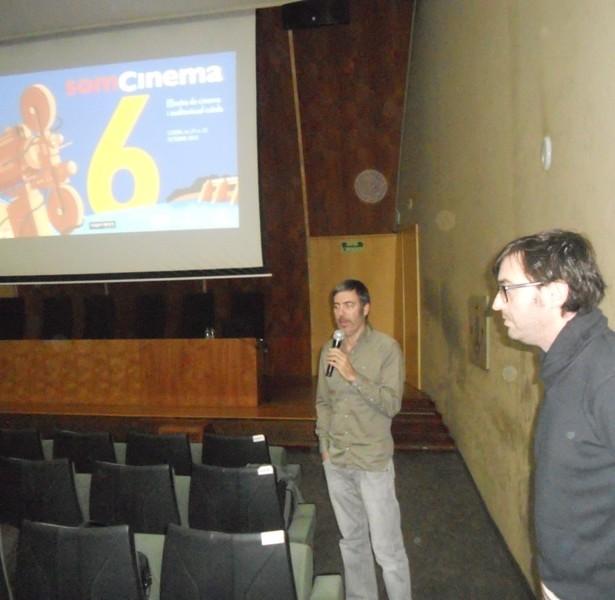 David Fernández De Castro, Durant La Presentació De AJOBLANCO, CRÓNICA EN ROJO Y NEGRO  Al Rectorat De La UdL