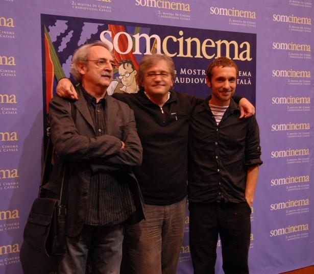 """Miquel Obiols (guionista), Ramon Costafreda (director) I Pablo Derqui (actor) De """"Ma Morta Truca A La Porta"""""""