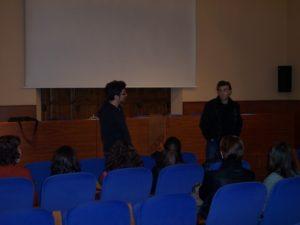 Alexis Borràs i Manel Montañés durant la presentació de l'acte.