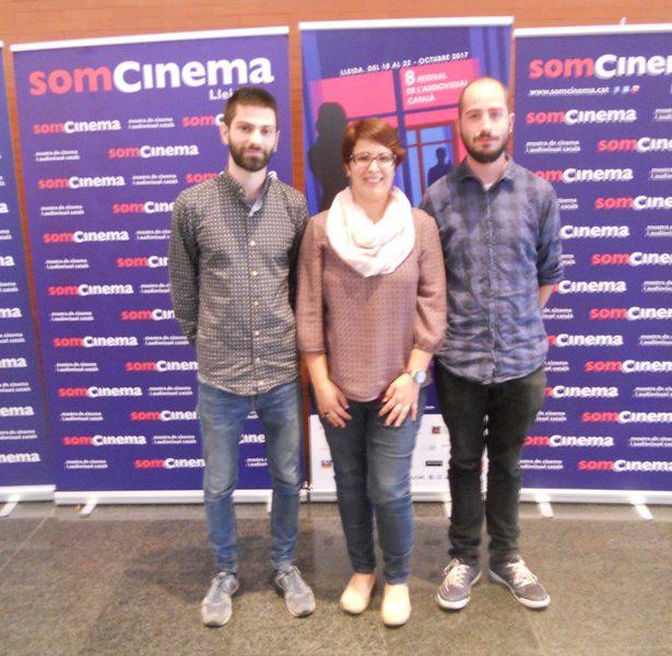 La Nostra Directora, Anna M. Bofarull Amb Els Directors De La Producció Mallorquina EN ACABAR, Thor Echevarria I Guillem Miró.