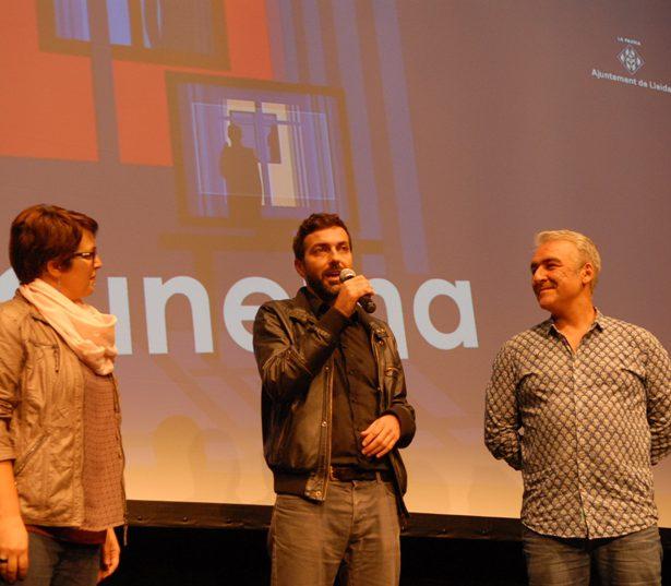 El Productor Sebastià Mery I El Director Alejo Levis Presentant NO QUIERO PERDERTE NUNCA.