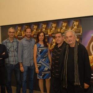 El Director Del Som Cinema, Manel Montañés, Amb Els Membres De Jurat: Josep Mª Escofet, Robert Garcia, Mercè Rovira, Marcel·lí Borrell I Antoni Boneu.