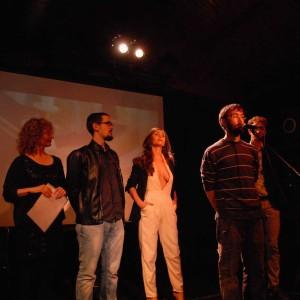 L'equip De La Pel·lícula VENKI, Amb Miquel Abella, Director; Rosario Curiel, Autora; I Els Actors José Mellinas, Azaha Moyano I Marc Rocamora.