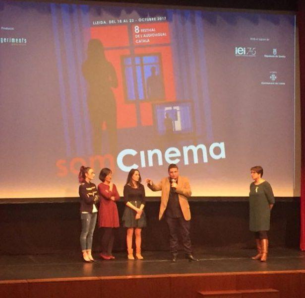 Presentació De La Pel·lícula Lleidatana ALGO DE VALENTINA, Amb El Seu Director, Jordi Celma I Les Actrius Marta Pachón, Ares Piqué I Gemma Castell.