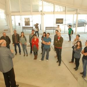 El Grup De Professionals Del Sector Audiovisual Visitant Les Instal·lacions Del Magical Media De Lleida.